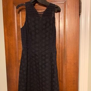 Tory Burch Hallie Navy Eyelet Dress Size 2 NEW